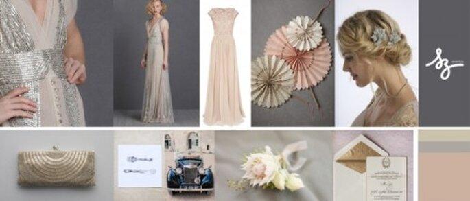 Decoración de boda estilo antiguo - Foto BHLDN, Stylisheve, chicvintagebrides.com, shopruche.com, stylemepretty.com