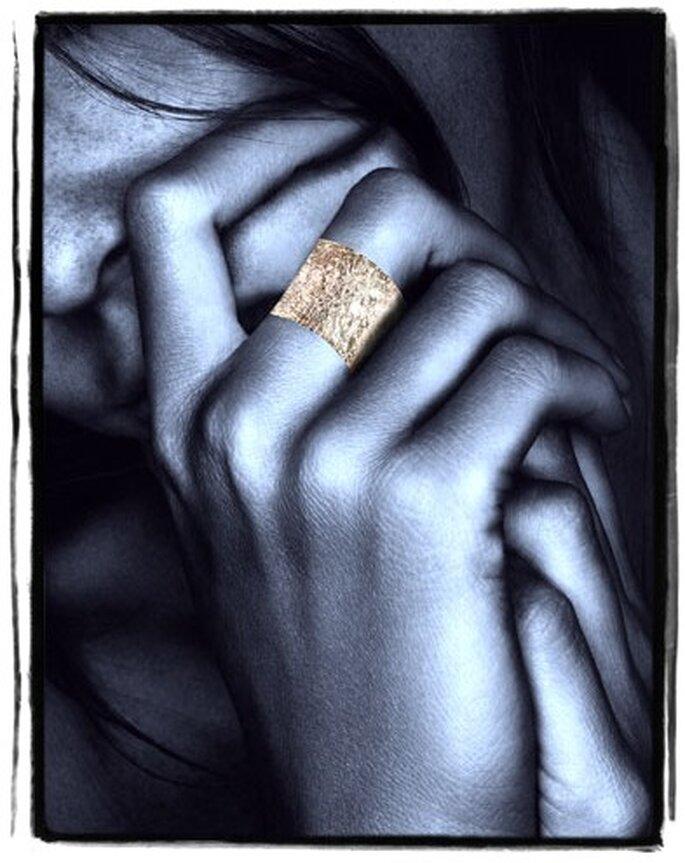 Bague de peau en or - Jacques Blanc