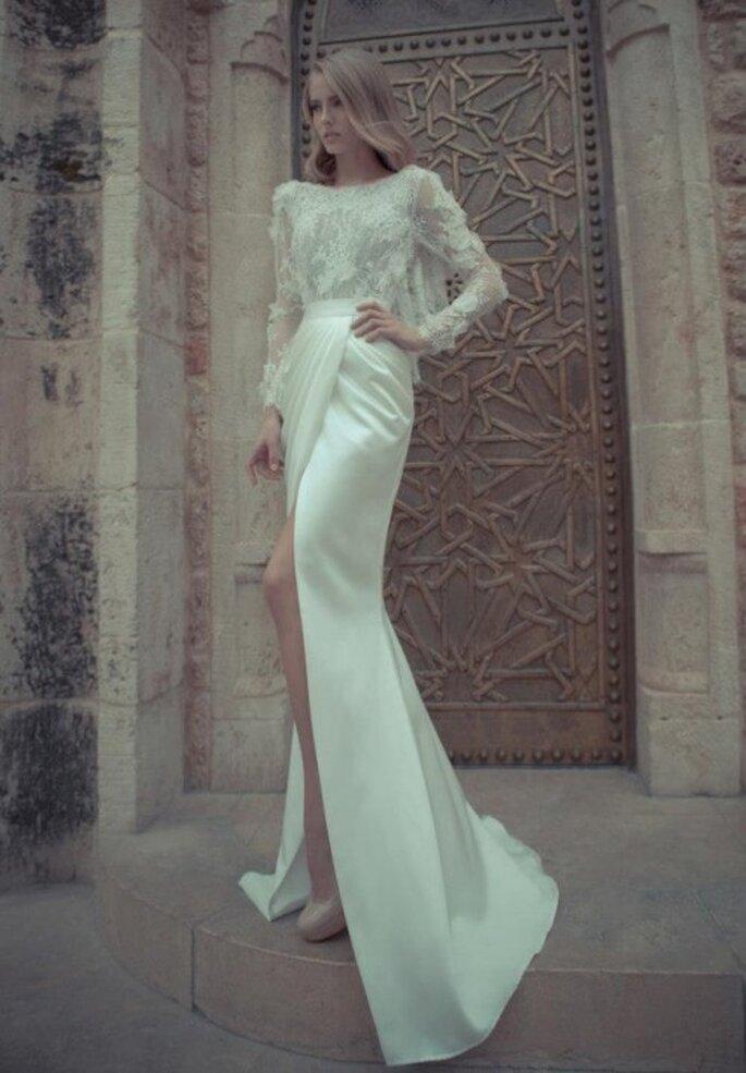 Preciosas incrustaciones y faldas con caídas elegantes - Foto Yaki Ravid