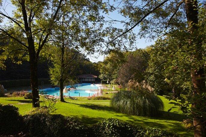 Vous pourrez célébrer votre mariage dans les jardins ou à l'interieur du club. Photo: Real Golf Club de San Sebastián