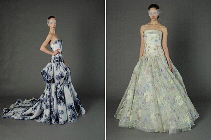 Douglas Hannant propone vestidos de novia estampados. Foto: Douglas Hannant