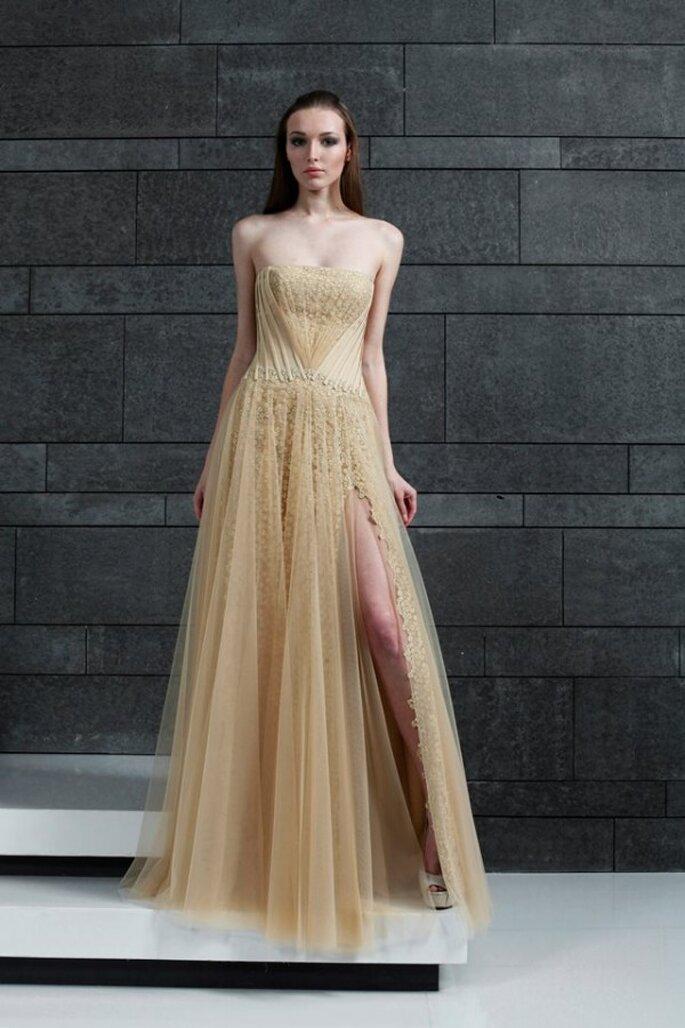 Vestidos de fiesta en lindos colores para otoño 2014 - Foto Tony Ward Couture