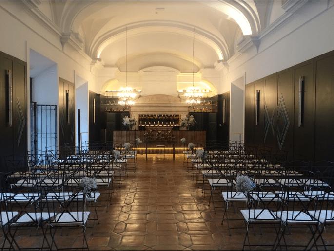 Sala Chimenea. La Casa de Mónico finca para bodas en Madrid