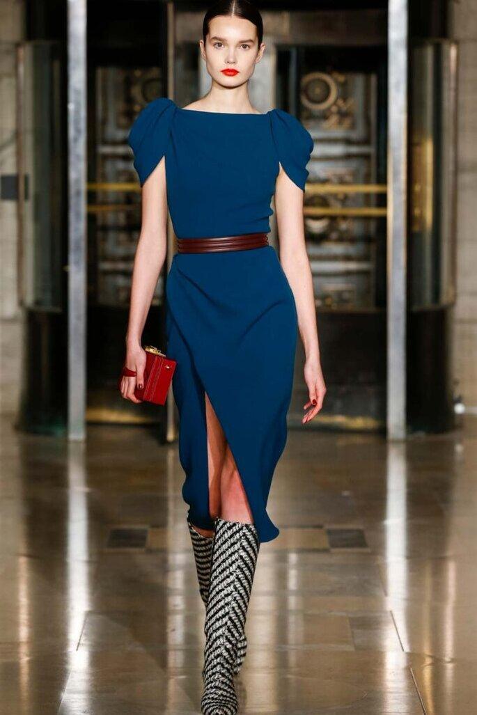tendenze moda autunno inverno 2020/2021 abiti blu
