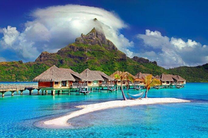 Paesaggio paradisiaco per la luna di miele