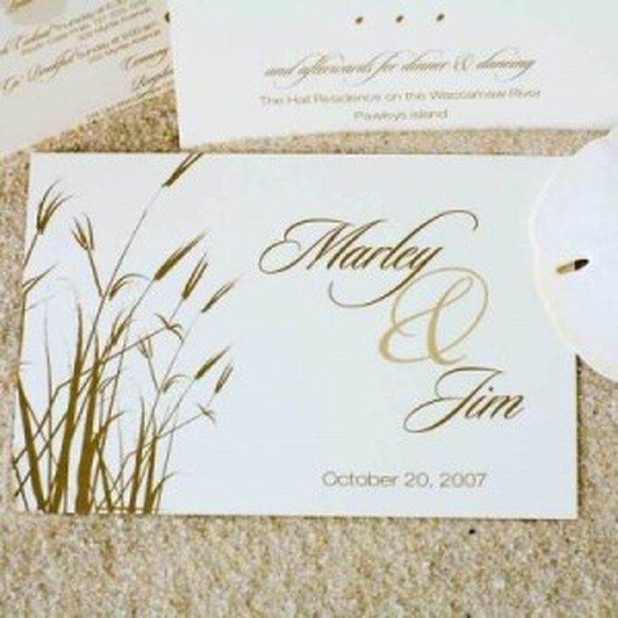 Invitaciones para una boda en la playa
