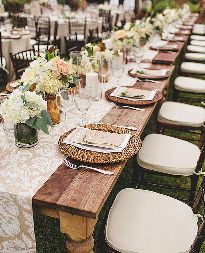 Mesas de boda imperiales la tendencia que triunfa en 2015 - Mesas decoradas para bodas ...