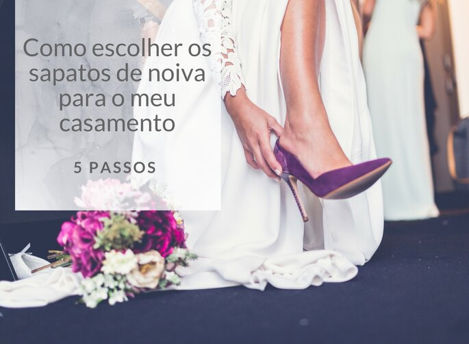 Como escolher os sapatos de noiva para o meu casamento em 5 passos
