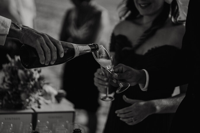 Photo champagne mariage