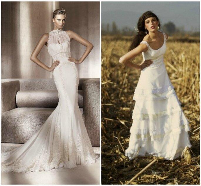 Dos novias en estilo vintage. Foto: Pronovias