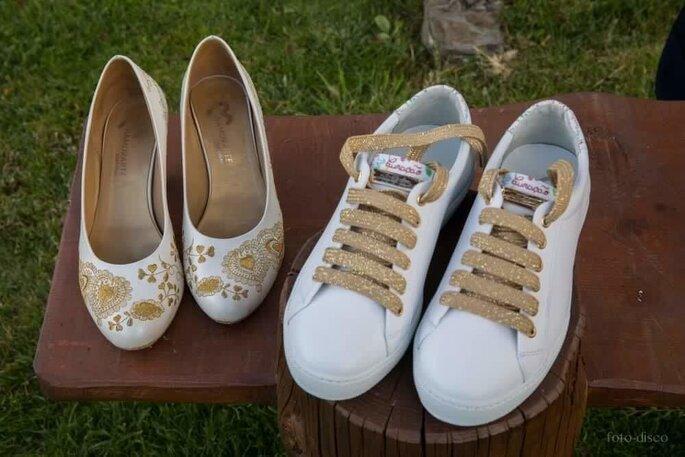 Namorarte. Tenis e sapato personalizado para casamento.