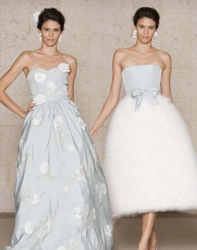 Vestidos de noiva azuis - Oscar de la Renta