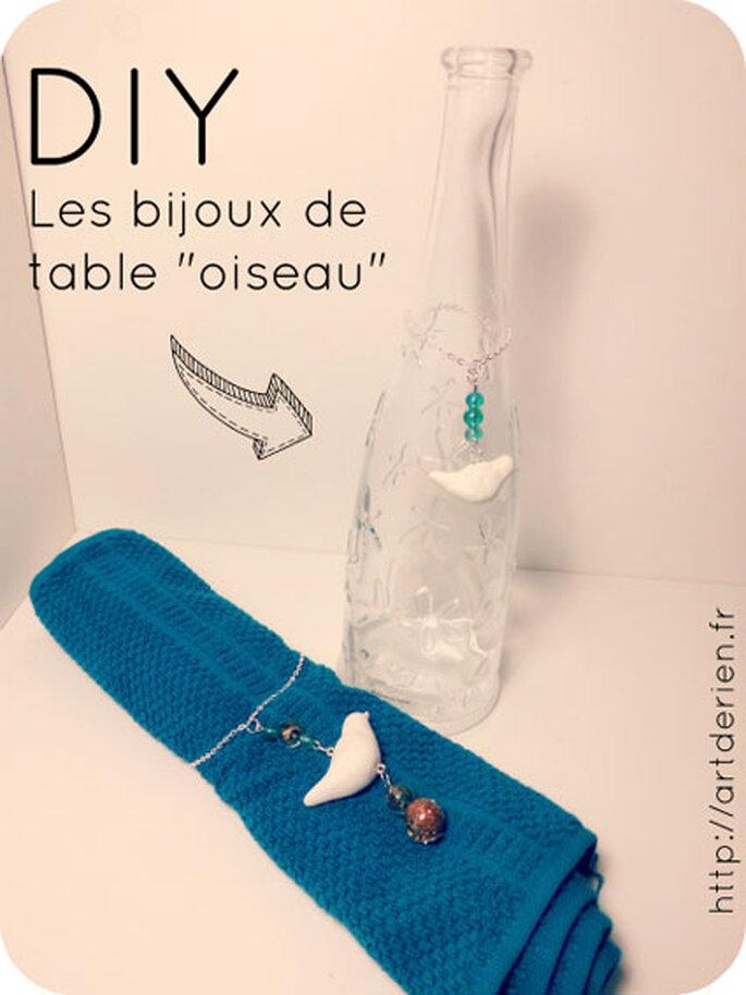 Bijoux de table personnalisés - Photo : Artderien.fr
