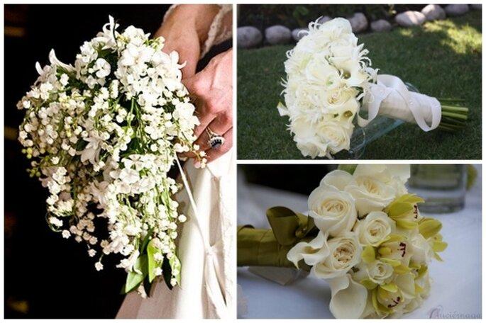 Ramos de novia color blanco. Fotos de Maria Limón Atelier Floral