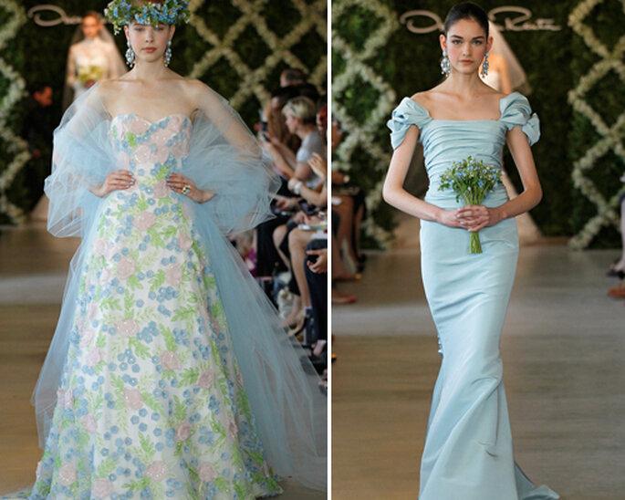 Vestidos de novia en color azul - Foto: Oscar de la Renta 2013