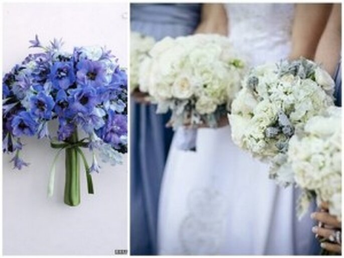 Diferentes propuestas en tonos azules - Martha Stewart Weddings