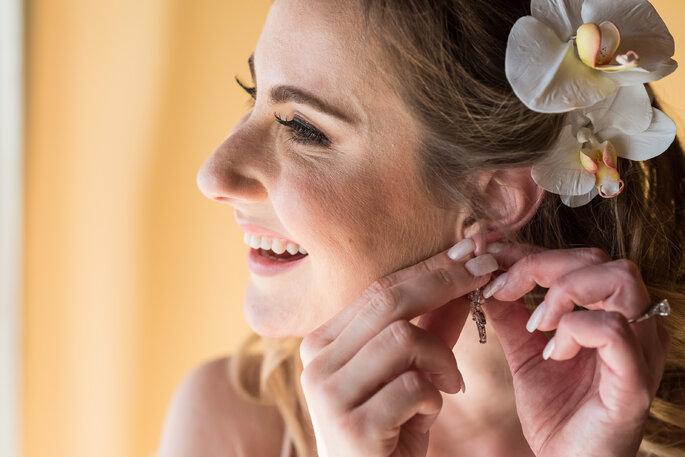Flor natural para cabelo da noiva