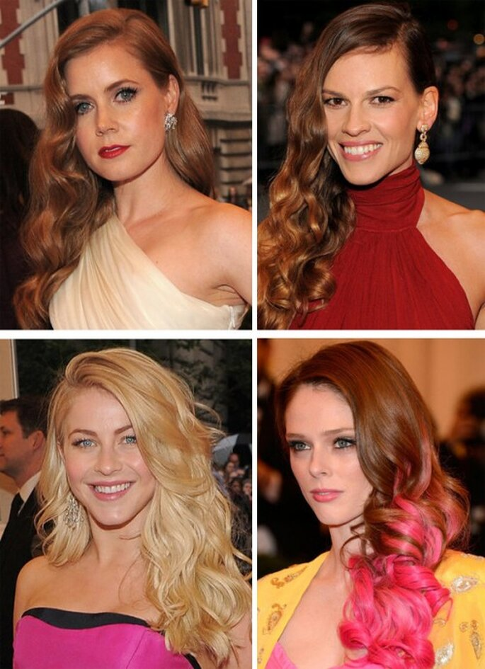 Amy Adams, Hilary Swank, Julianne Hough y Coco Rocha en la MET Gala 2012 - Foto Getty