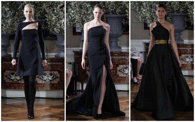 Vestidos de novia negros de Romona Keveza. Fotos: Romona Keveza 2013