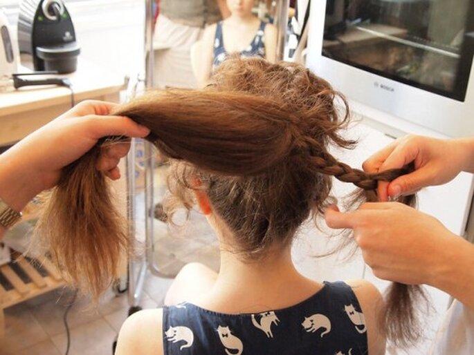 Piensa en una segunda opción para tu peinado de novia DIY - Foto Oferico en Flickr