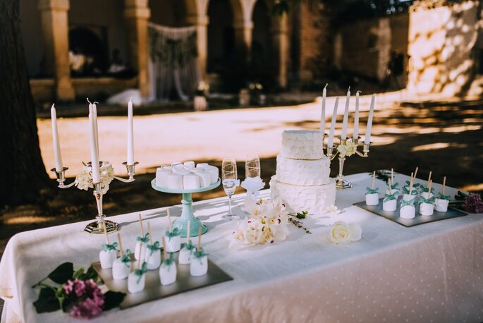 mesa de postres de boda