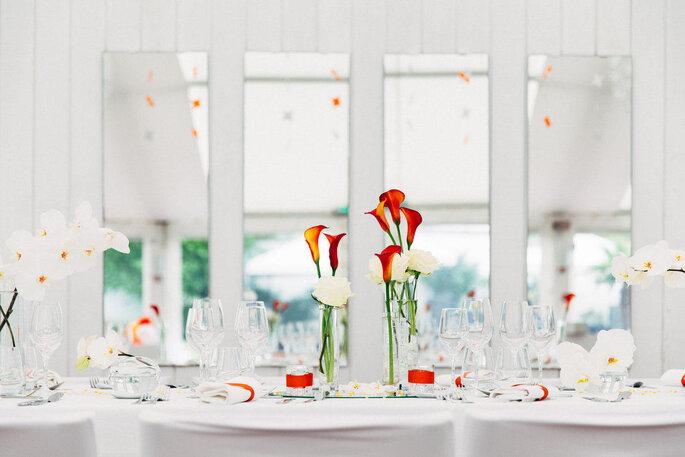 Centre de table de mariage minimaliste