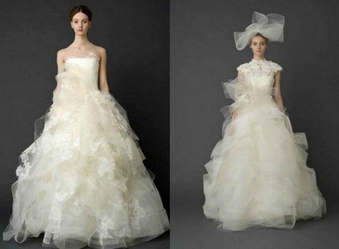 Strati e strati di tulle per una sposa romantica e femminile. Vera Wang Bridal Collection 2012