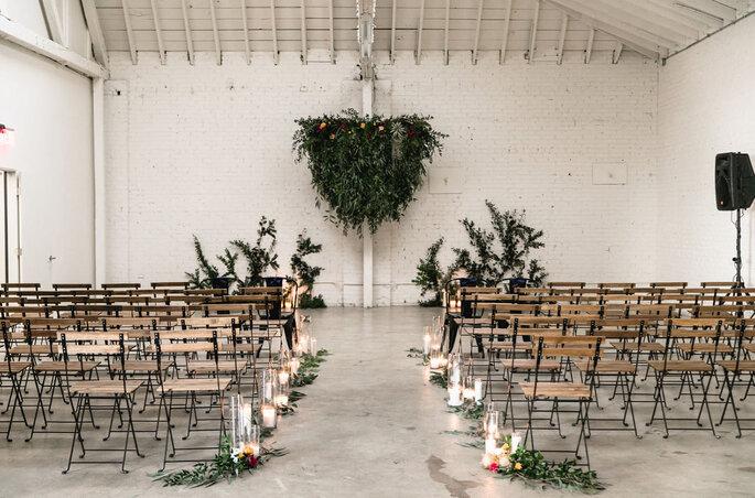Hochzeitszeremonie im Industrial Style