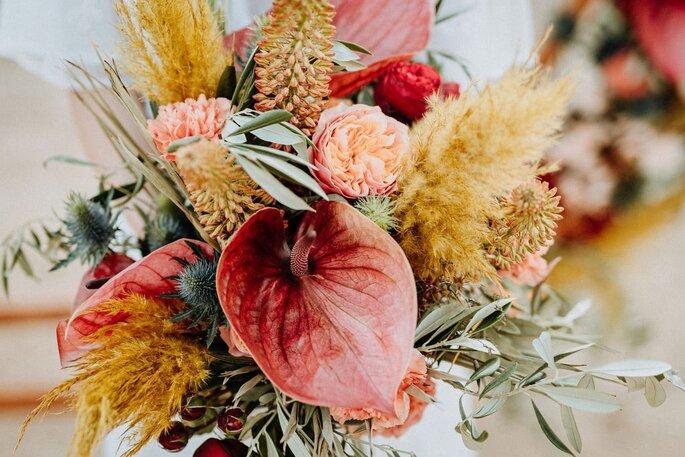 Die Farben des Orients Braut mit Brautstrauß