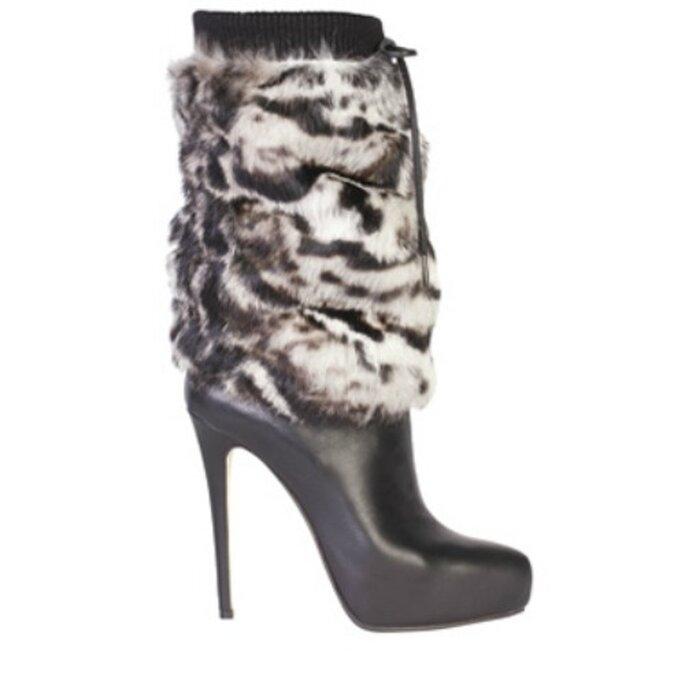 Stivale ankle boot in pelle con rivestimento in pelliccia. Le Silla Collezione A/I 2012-13. Foto: www.lesilla.it