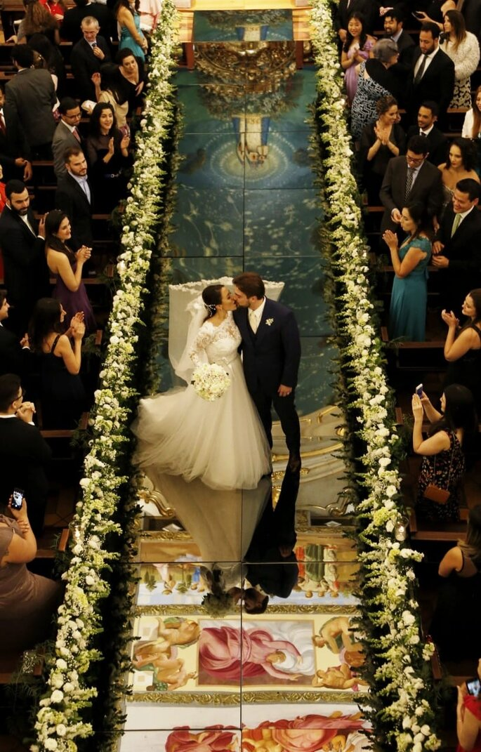 decoração igreja casamento