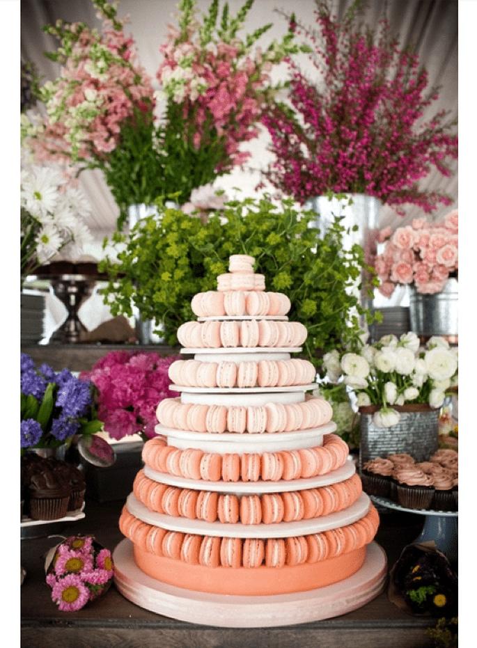 Macarons para el postre de tu boda - Foto Blaine Siesser Photography
