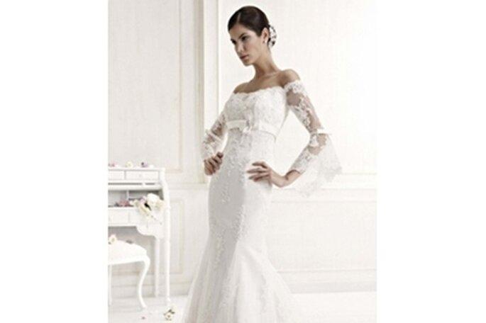 Hochzeitskleid mit Trompetenärmeln - Model 62474 von Colet by Nicole