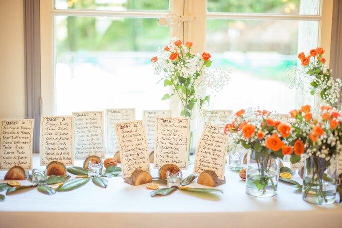 Numéros de table de mariage