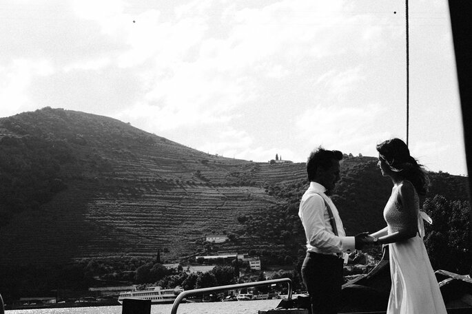 Noivos no Douro