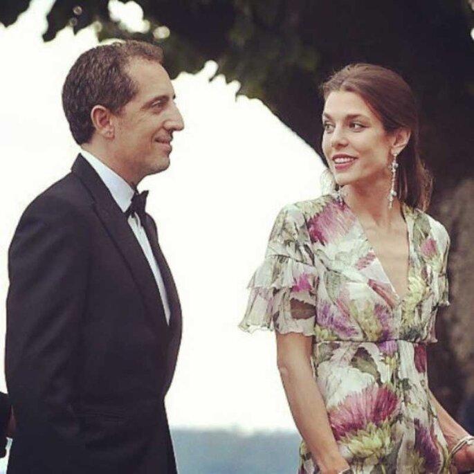 Carlota Casiraghi y Gad Elmaleh.