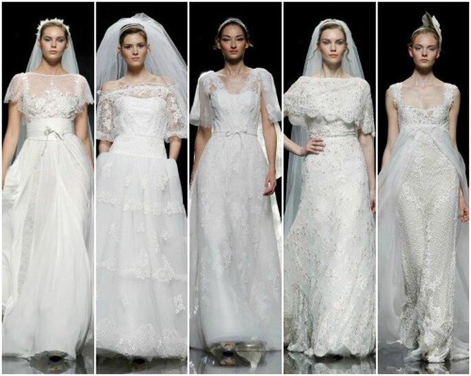 Vestidos de novia de inspiración vintage, de Pronovias 2013. Foto: Pronovias