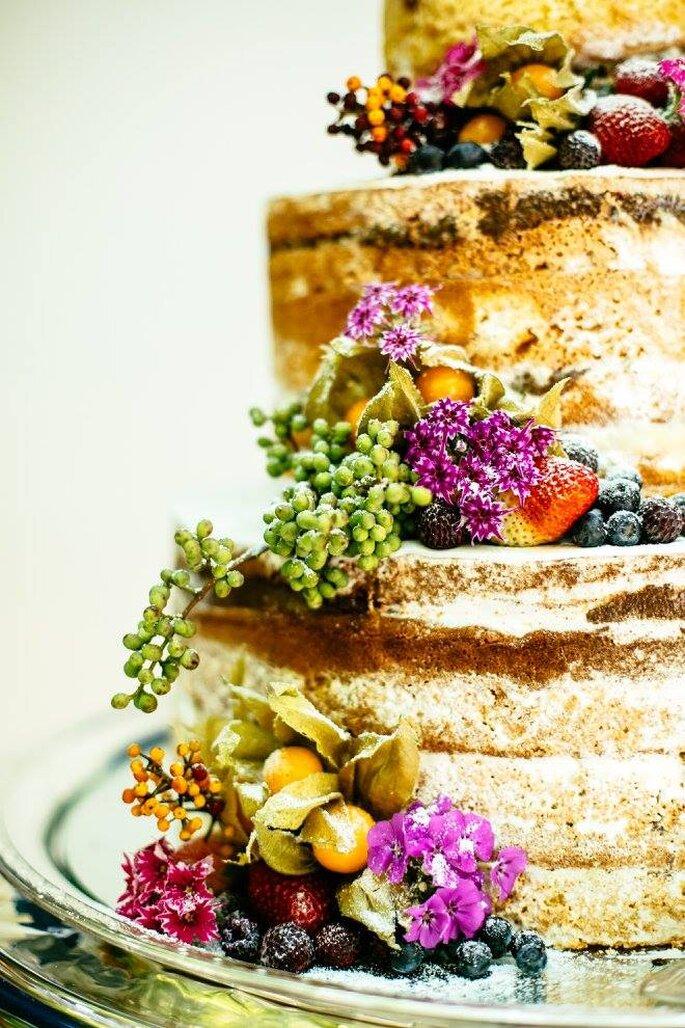 bolo naked casamento