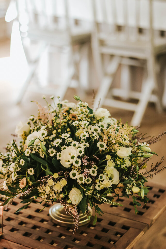 Composition florale réalisée par Eventos Privé