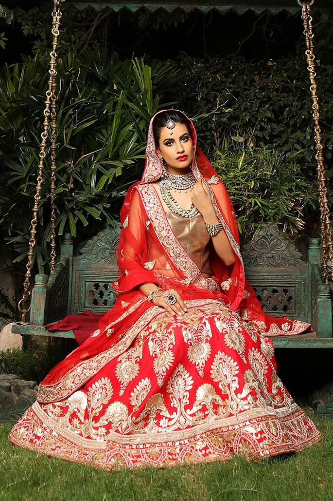 Bridal Lehnga:  Chhabra 555.