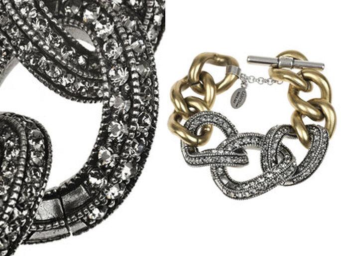 Grobes Kettenarmband mit Steinbesatz von Lanvin