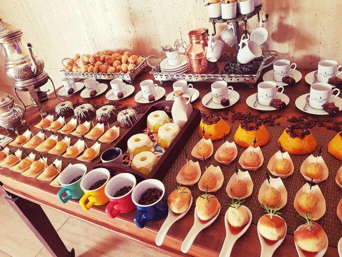 Mesa de café casamento