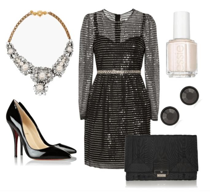 Vestido de Marc Jacobs, esmalte de Essie, bolso de Anya Hindmarch, zapatos de Christian Louboutin