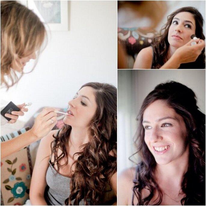 La novia eligió un maquillaje de ojos muy natural para su boda