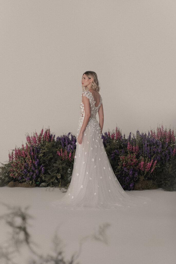 vestido de noiva costas decotada