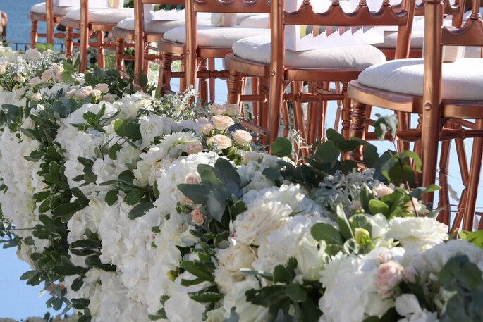 L'Asso dei Fiori - fiori corridoio cerimonia