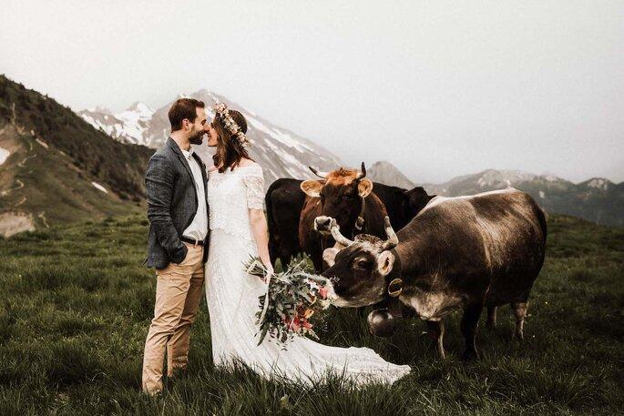 Afterwedding Shooting auf dem Niederbauen
