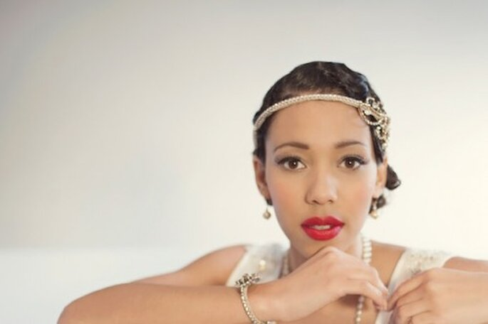 "Maquillaje de novia inspirado en ""The Great Gatsby"" - Foto EFC Photography"