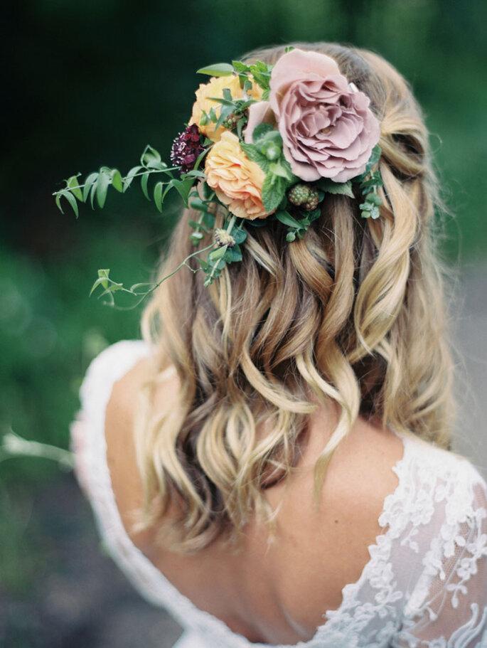 Peinado de novia con ondas