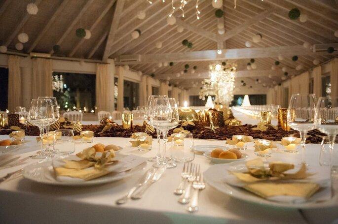 Mise en place catering matrimoniale